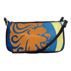 Lion Zodiac Sign Zodiac Moon Star Shoulder Clutch Bags by Nexatart