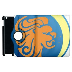 Lion Zodiac Sign Zodiac Moon Star Apple Ipad 2 Flip 360 Case by Nexatart
