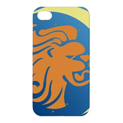 Lion Zodiac Sign Zodiac Moon Star Apple Iphone 4/4s Premium Hardshell Case by Nexatart