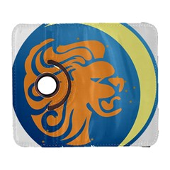 Lion Zodiac Sign Zodiac Moon Star Galaxy S3 (flip/folio) by Nexatart
