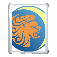 Lion Zodiac Sign Zodiac Moon Star Apple Ipad 3/4 Case (white) by Nexatart