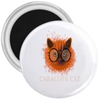 Cat Smart Design Pet Cute Animal 3  Magnets Front