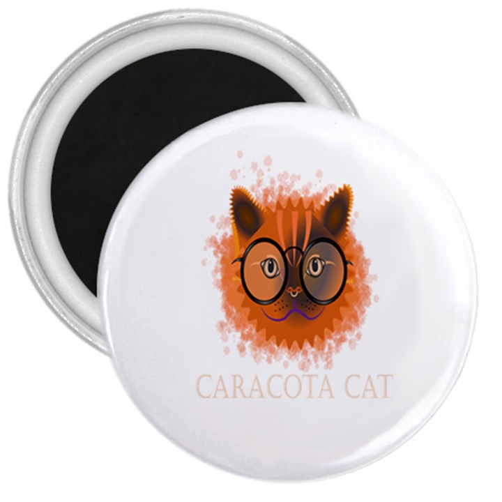 Cat Smart Design Pet Cute Animal 3  Magnets