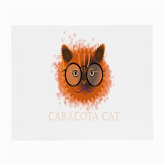 Cat Smart Design Pet Cute Animal Small Glasses Cloth (2 Side) by Nexatart