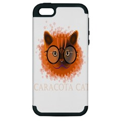 Cat Smart Design Pet Cute Animal Apple Iphone 5 Hardshell Case (pc+silicone)