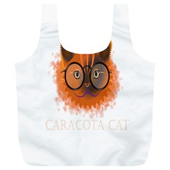 Cat Smart Design Pet Cute Animal Full Print Recycle Bags (l)