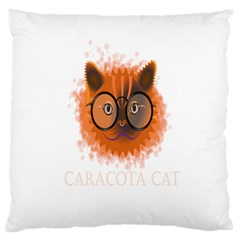Cat Smart Design Pet Cute Animal Large Flano Cushion Case (one Side)