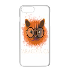 Cat Smart Design Pet Cute Animal Apple Iphone 7 Plus White Seamless Case by Nexatart
