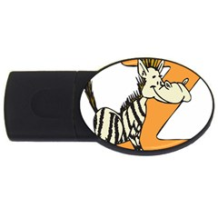 Zebra Animal Alphabet Z Wild Usb Flash Drive Oval (4 Gb) by Nexatart