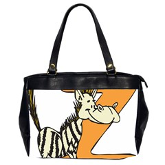 Zebra Animal Alphabet Z Wild Office Handbags (2 Sides)  by Nexatart