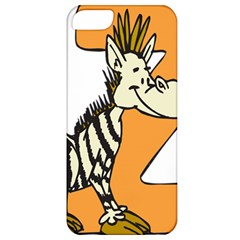 Zebra Animal Alphabet Z Wild Apple Iphone 5 Classic Hardshell Case by Nexatart