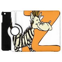 Zebra Animal Alphabet Z Wild Apple Ipad Mini Flip 360 Case by Nexatart