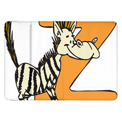 Zebra Animal Alphabet Z Wild Samsung Galaxy Tab 8 9  P7300 Flip Case