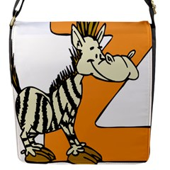 Zebra Animal Alphabet Z Wild Flap Messenger Bag (s) by Nexatart