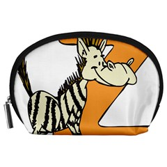 Zebra Animal Alphabet Z Wild Accessory Pouches (large)  by Nexatart
