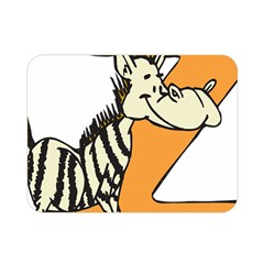 Zebra Animal Alphabet Z Wild Double Sided Flano Blanket (mini)  by Nexatart