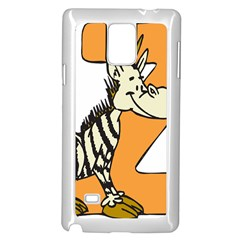 Zebra Animal Alphabet Z Wild Samsung Galaxy Note 4 Case (white) by Nexatart