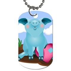 Pig Animal Love Dog Tag (two Sides) by Nexatart