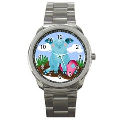 Pig Animal Love Sport Metal Watch