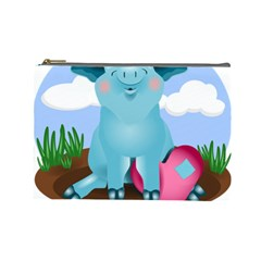Pig Animal Love Cosmetic Bag (large)  by Nexatart
