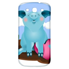 Pig Animal Love Samsung Galaxy S3 S Iii Classic Hardshell Back Case by Nexatart