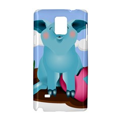Pig Animal Love Samsung Galaxy Note 4 Hardshell Case by Nexatart