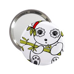 Panda China Chinese Furry 2 25  Handbag Mirrors