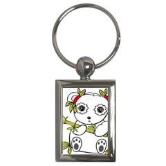 Panda China Chinese Furry Key Chains (rectangle)  by Nexatart