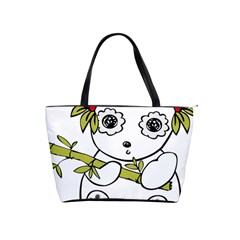 Panda China Chinese Furry Shoulder Handbags by Nexatart