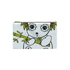 Panda China Chinese Furry Cosmetic Bag (small)