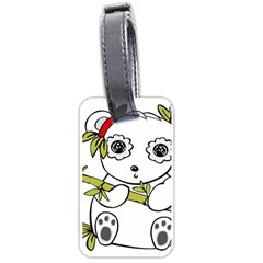 Panda China Chinese Furry Luggage Tags (two Sides)