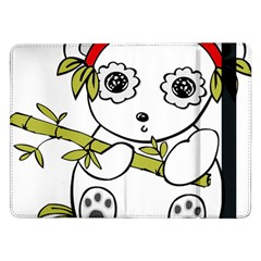 Panda China Chinese Furry Samsung Galaxy Tab Pro 12 2  Flip Case