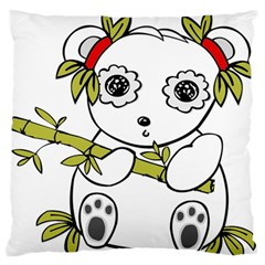 Panda China Chinese Furry Large Flano Cushion Case (one Side) by Nexatart