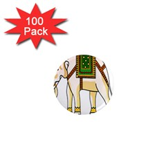 Elephant Indian Animal Design 1  Mini Magnets (100 Pack)  by Nexatart