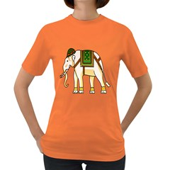 Elephant Indian Animal Design Women s Dark T Shirt