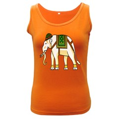 Elephant Indian Animal Design Women s Dark Tank Top