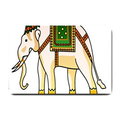 Elephant Indian Animal Design Small Doormat  by Nexatart