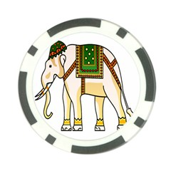 Elephant Indian Animal Design Poker Chip Card Guard