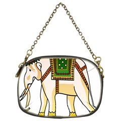 Elephant Indian Animal Design Chain Purses (two Sides)  by Nexatart