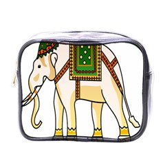 Elephant Indian Animal Design Mini Toiletries Bags by Nexatart