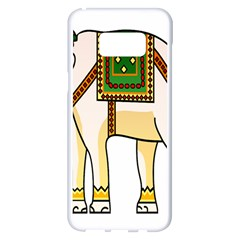 Elephant Indian Animal Design Samsung Galaxy S8 Plus White Seamless Case by Nexatart