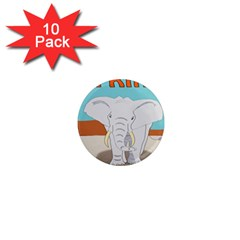 Africa Elephant Animals Animal 1  Mini Magnet (10 Pack)  by Nexatart