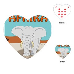 Africa Elephant Animals Animal Playing Cards (heart)