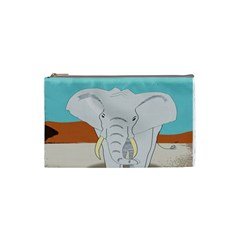 Africa Elephant Animals Animal Cosmetic Bag (small)  by Nexatart