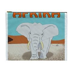 Africa Elephant Animals Animal Cosmetic Bag (xl)