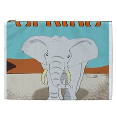 Africa Elephant Animals Animal Cosmetic Bag (xxl)