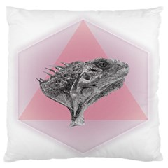 Lizard Hexagon Rosa Mandala Emblem Standard Flano Cushion Case (two Sides) by Nexatart