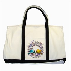 Flowers Floral Flowery Spring Two Tone Tote Bag
