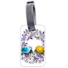 Flowers Floral Flowery Spring Luggage Tags (two Sides) by Nexatart