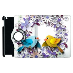 Flowers Floral Flowery Spring Apple Ipad 2 Flip 360 Case by Nexatart